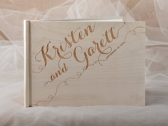 Etsy Wood Guest Book